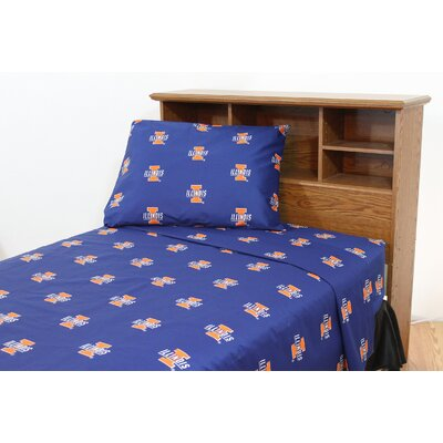 College Covers NCAA Cotton Sateen Sheet Set - Size: Queen, NCAA Team: Illinois at Sears.com