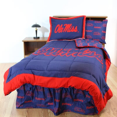 NCAA Ole Miss Reversible Bed in a Bag Set Size: Queen
