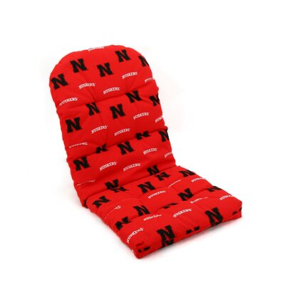 NCAA Nebraska Outdoor Adirondack Chair Cushion