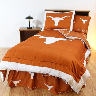 NCAA Texas Reversible Bed in a Bag Set Size: King