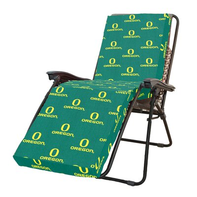 NCAA Oregon Outdoor Chaise Lounge Cushion