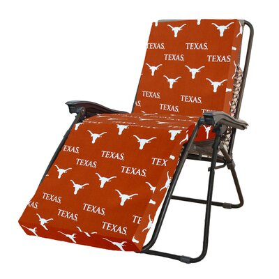 NCAA Texas Longhorns Outdoor Chaise Lounge Cushion