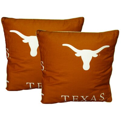 NCAA Texas Cotton Throw Pillow