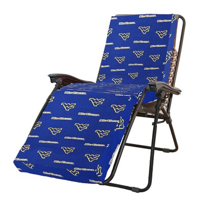 NCAA West Virginia Outdoor Chaise Lounge Cushion