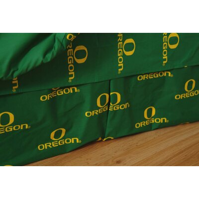 NCAA Oregon Dust Ruffle Size: Queen