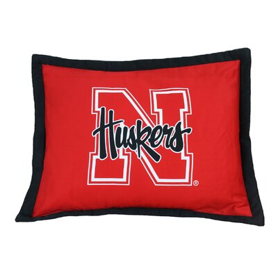 NCAA Nebraska Pillow Sham