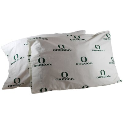 NCAA Oregon Pillowcase Color: White