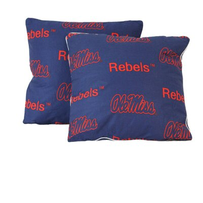 NCAA Ole Miss Cotton Throw Pillow