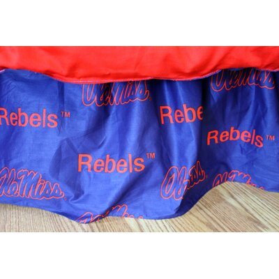 NCAA Ole Miss Dust Ruffle Size: Full