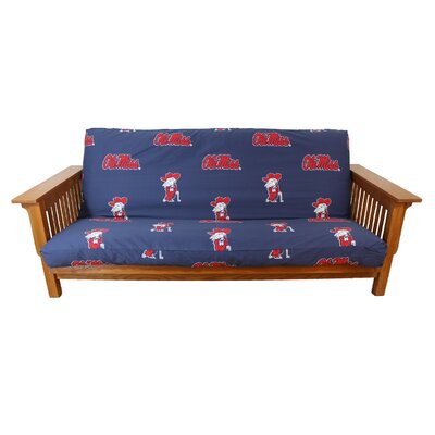 NCAA Box Cushion Futon Slipcover NCAA Team: Mississippi