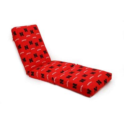 NCAA Nebraska Outdoor Chaise Lounge Cushion