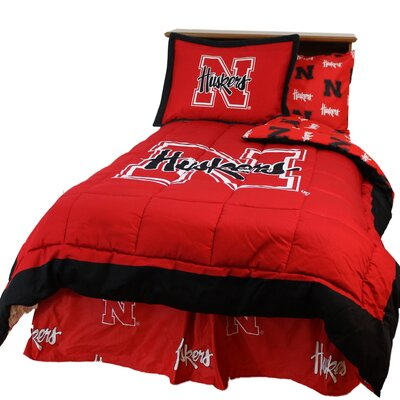 NCAA Nebraska Reversible Comforter Set Size: Twin
