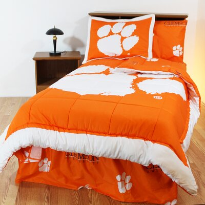 NCAA Clemson Reversible Bed in a Bag Set Size: King
