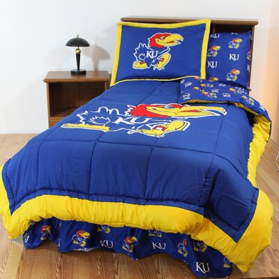 NCAA Kansas Reversible Bed in a Bag Set Size: Queen
