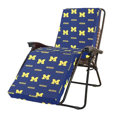 NCAA Michigan Outdoor Chaise Lounge Cushion