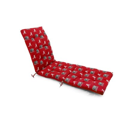NCAA Alabama Outdoor Chaise Lounge Cushion