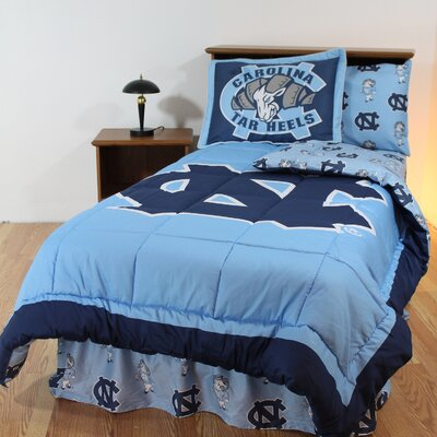 NCAA North Carolina Reversible Bed in a Bag Set Size: Queen