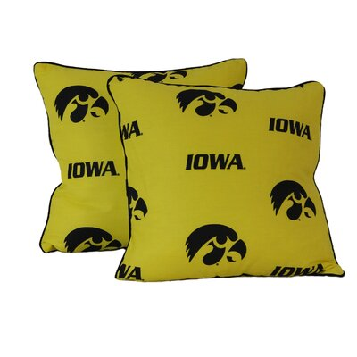 NCAA Lowa CottonThrow Pillow