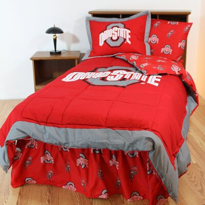 NCAA Ohio State Reversible Bed in a Bag Set Size: Queen