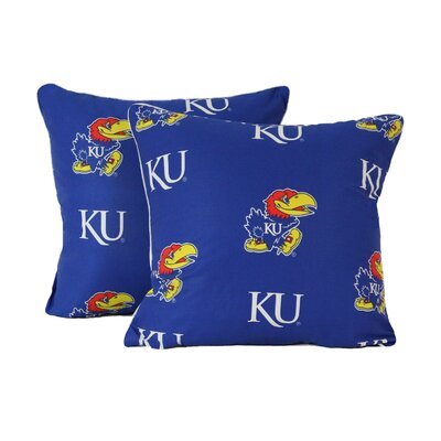 NCAA Kansas Decorative Cotton Throw Pillow