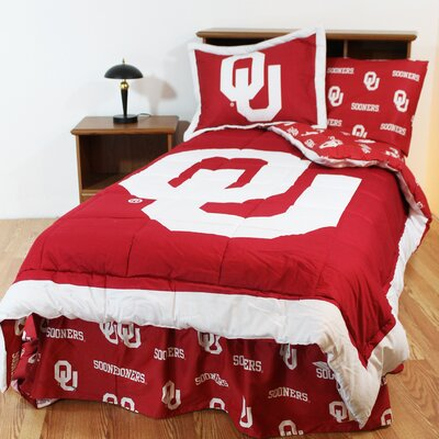 NCAA Oklahoma Reversible Bed in a Bag Set Size: Full