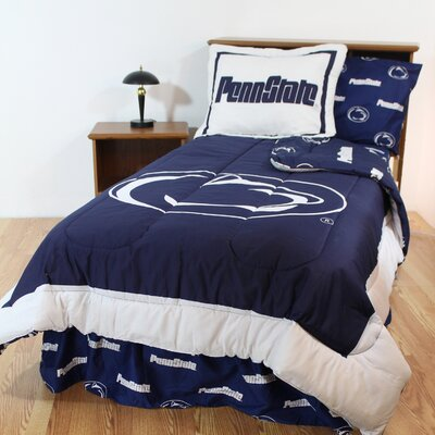 NCAA Penn State Reversible Bed in a Bag Set Size: King