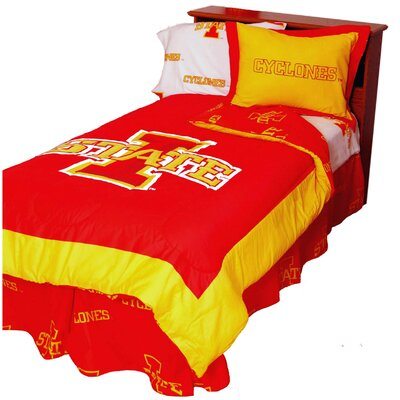 NCAA Iowa State Reversible Comforter Set Size: Twin