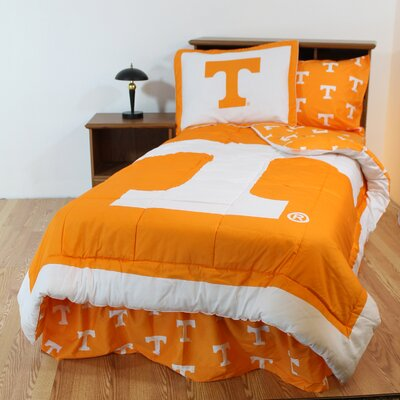 NCAA Tennessee Reversible Bed in a Bag Set Size: Queen