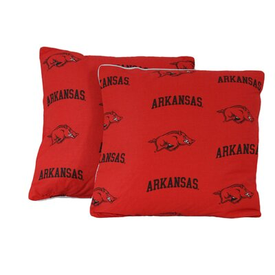 NCAA Arkansas Cotton Throw Pillow