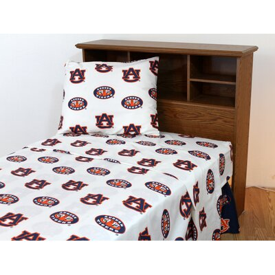 NCAA  Auburn Sheet Set Size: Extra-Long Twin