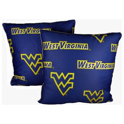 NCAA West Virginia Decorative Cotton Throw Pillow
