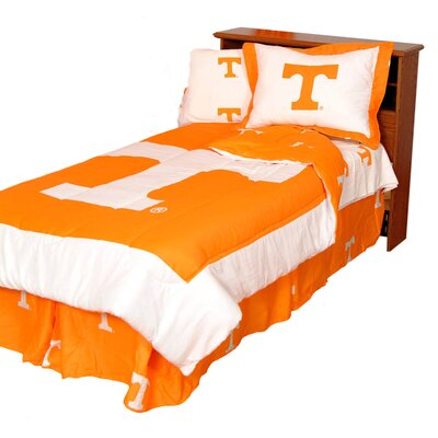 NCAA Tennessee Reversible Comforter Set Size: King