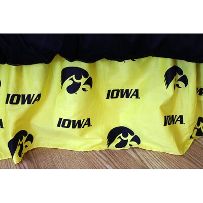 NCAA Iowa Printed Dust Ruffle Size: Queen
