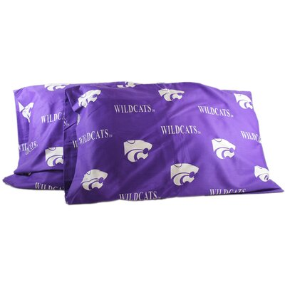 Collegiate NCAA Kansas State Wildcats Pillowcase Size: King