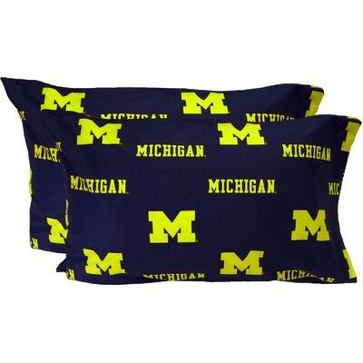 Collegiate NCAA Michigan Wolverines Pillowcase Size: King