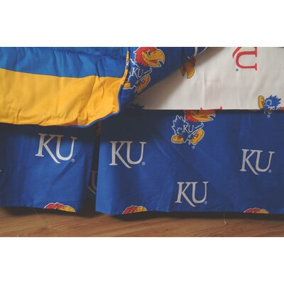 NCAA Kansas Dust Ruffle Size: Twin