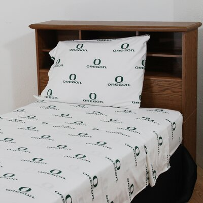 NCAA Oregon Printed Sheet Set Size: Twin