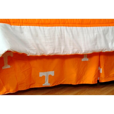 NCAA Tennessee Dust Ruffle Size: Twin