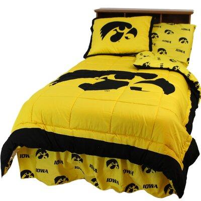 NCAA Iowa Reversible Comforter Set Size: Queen
