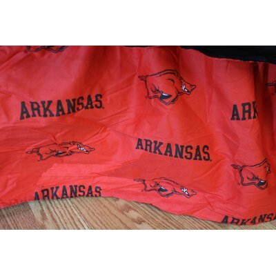NCAA Arkansas Printed Dust Ruffle Size: Queen