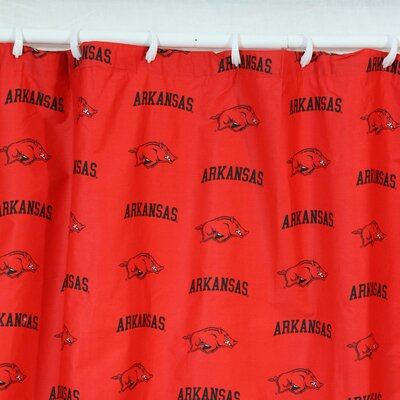 NCAA Arkansas Cotton Printed Shower Curtain