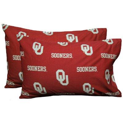 NCAA Oklahoma Sooners Pillowcase Size: Standard