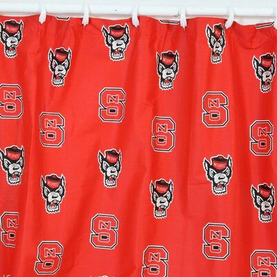 NCAA North Carolina State Cotton Printed Shower Curtain