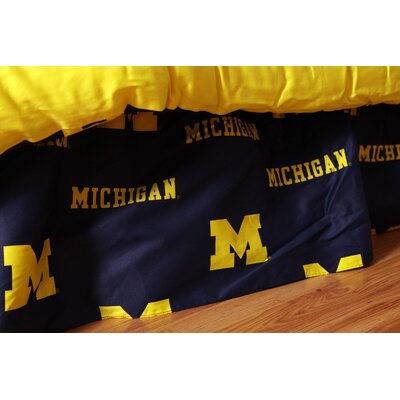 NCAA Michigan Dust Ruffle Size: Queen