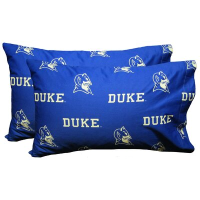 Collegiate NCAA Duke Blue Devils Pillowcase Size: King