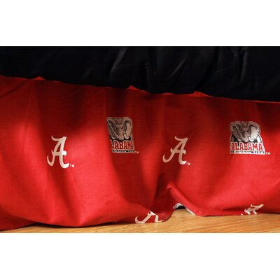 NCAA Alabama Printed Dust Ruffle Size: King