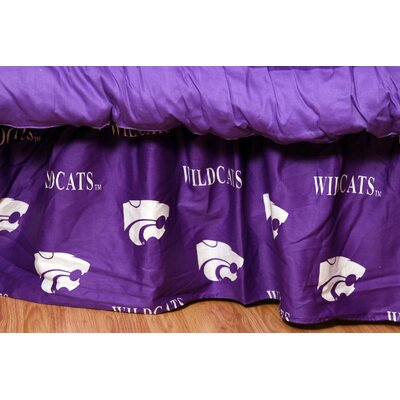 NCAA Kansas State Dust Ruffle Size: Twin