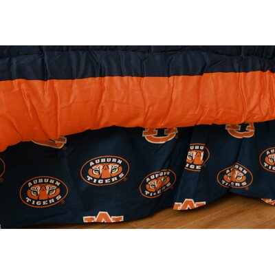 NCAA Auburn Printed Dust Ruffle Size: Queen