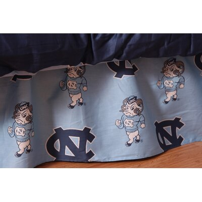 NCAA North Carolina Dust Ruffle Size: Queen