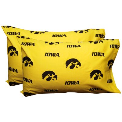 NCAA Iowa Hawkeyes Pillowcase Size: Standard